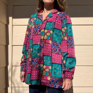 EUC gorgeous 80/90s vintage Erin London blouse